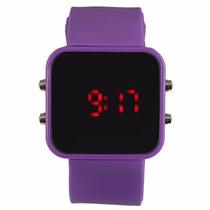 Relógio Digital Led Sport Espelhado Várias Cores