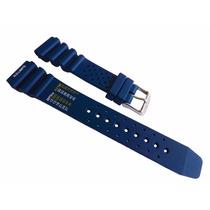 Pulseira Aqualand Citizen 3740 Azul Borracha Ay5000 20mm [h8