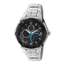 Relógio Masculino Condor Anadigi Co1101aa8a - Preto E Azu...