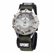 Relógio Masculino Sport Quartz Moderno Pulseira Em Nylon