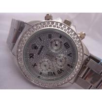 Lindo Relógio Tipo Rolex Feminino Strass No Leilão De 1,00