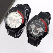 Relógio Quartz Masculino Weljleer Poliuretano Kit C/ 2 Und