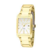 Relógio Technos Feminino Dourado Quadrado Em Aço 2015bzx/4b