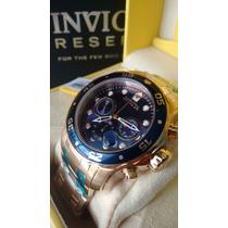 Relógio Invicta 21923 Masculino Original Banhado A Ouro