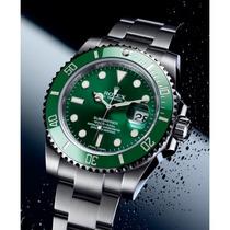 Relógio Submariner Verde Safira Acab. Eta Caixa Manual