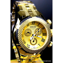 Invicta Men Swiss Made Reserve Banhado A Ouro 18k