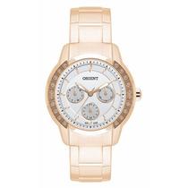 Relógio Orient Feminino Multifunção Calendário Dourado
