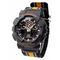 Relógio Casio G-shock Ga100mc 1a4 Tecido Preto Novo Original