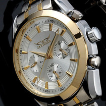 Relógio Jaragar Branco Automático Gold Business Watch