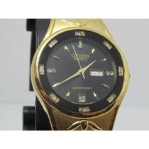 Relógio Citizen Er8544-38q Luxo Dourado - Dia Dos Namorado