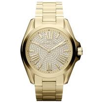 Relógio Michel Kors - Mk5738 - Gold Com Strass - Original
