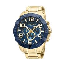Relógio Technos Os20iq/4a Cronógrafo Dourado- 12x Sem Juros