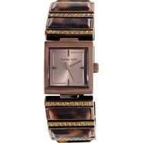 Relógio Luxo Michael Kors Mk4267 Orig Tortoise Anal & Brown