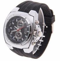 Relógio Analógico Stainless Steel Back V6 - Prata