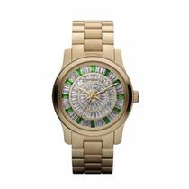 Promoção Relógio Michael Kors Mk5730 Strass Verde Original