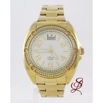 Relógio Feminino Dumont Dourado - Sw5339b