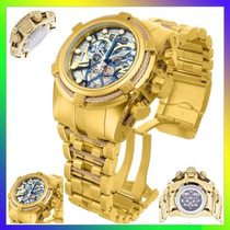 Relógio Invicta Bolt Zeus 13757 Gold Skelecton Original !