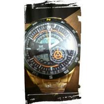 Relógio Masculino Dourado Rr , Barato!