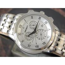 Relógio Orient Cronógrafo Quartzo Calendario Aço Mbssc012