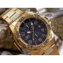 Relógio Invicta Masculino Importado Dourado Ouro18k Original