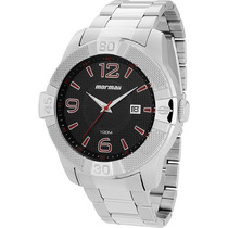 Relógio Masculino Mormaii Analógico Mo2315aj/1p De Aço 10atm