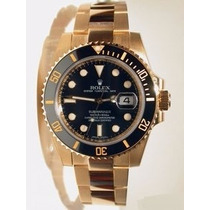Relógio Submariner Perpetual Black Gold Oyster Preto