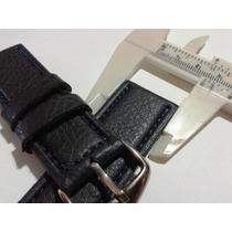Pulseira De Couro Alternativo Para Várias Marcas 25mm Grande