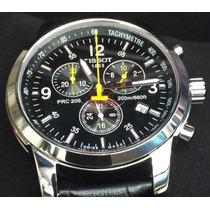 Relógio Tissot Preto Dourado Prc200 1853 Original No Brasil