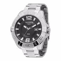 Relógio Caixa Grande Technos Legacy Prata - 2315aan/1p 100m
