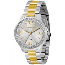 Relógio Lince Lrtj036l B2sk Feminino Prata Dourad - Refinado