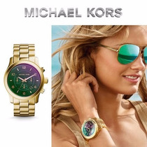 Michael Kors Mk8407 Runway Lens Flash Dial Gold Tone Unisex