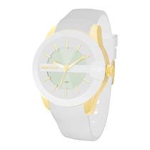 Relógio Feminino Mormai Maui Mo2035aq/8b - Branco E Dour...