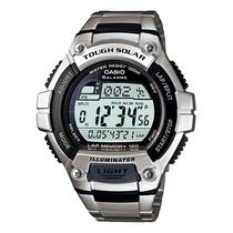 Relógio Casio W-s220 Solar Aço 5alar 31fusos 100m Ws200 Aq