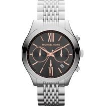 Relógio Michael Kors Mk5761 Prata Preto Original Garantia