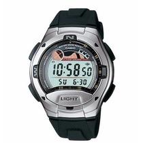Relógio Casio W-753 C/ Tabua Da Maré 100 M Fases Da Lua