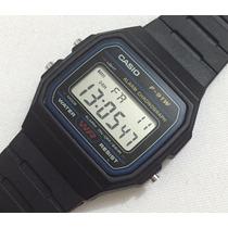 Relógio De Pulso Casio F-91w Digital Alarme Cronógrafo