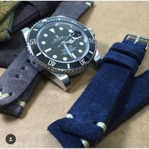 Pulseira Relógio Rolex E Vintage Raw&co Original Em Couro