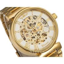 Relógio Feminino Winner Automático Luxo Elegante Glamour