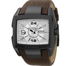 Relógio Diesel Original Quadrado Idz1216/z Pulseira De Couro