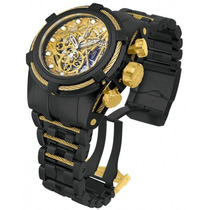 Invicta 13665 Reserve Bolt Zeus Black Gold Steel Swiss