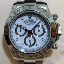 Relógio Eta Valjoux A7750 Modelo Daytona Dial Branco