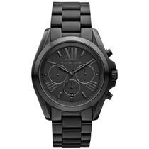 Relógio Luxo Michael Kors Bradshaw Mk5550 Chron Anal Black