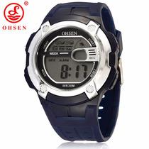 Relógio Ohsen Sport 7 Cores De Luz Alarme/cronometro Ofertão