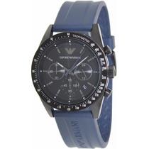 Relogio Emporio Armani Ar6113 Preto Azul + Frete