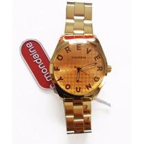 Relógio Feminino Barato Dourado Mondaine 3atm Forever Young