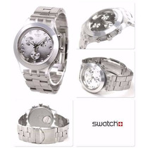 Relógio Swatch Chrono Full Blooded Silver Svck4038g Frete Gr
