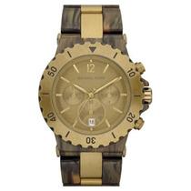 Relógio Michael Kors Madrepérola, Dourado E Marrom