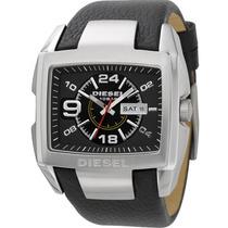Relógio Diesel Original Masculino Quadrado Idz1215/z Couro