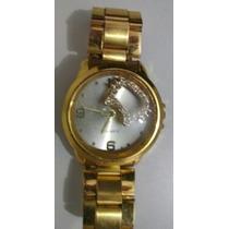Relógio Barato Feminino Todo Dourado Belíssimo!!