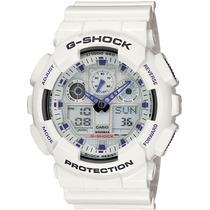 Relógio Casio G-shock Ga-100a Ga-100 Branco - Leia Anúncio